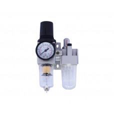 Фильтр возд. влагоотделитель с регулятором давления с манометром и лубрикатором 1/4