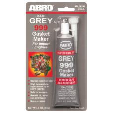 Герметик силиконовый серый ABRO 999