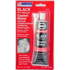 Герметик силиконовый черный  ABRO MASTERS