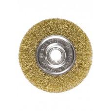Щетка для УШМ 125 мм, плоская, латунированная