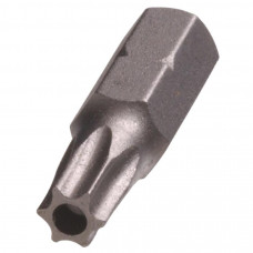 Бита Torx 1/4 Т27Н с отверстием L=25 мм //FORCE