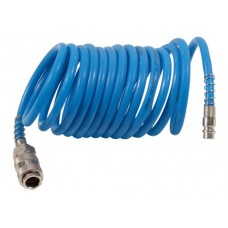 Шланг спиральный 10,0 х 15мм х 10м, синий