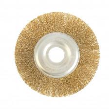 Щетка для УШМ торцевая латунь 175 мм
