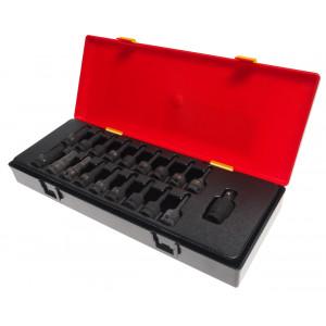 Набор головок-бит ударных 3/8 6 гр. Н3-14мм, Torx 15-55//JTC