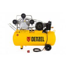 Компрессор PC 3/100-504, масляный, ременный, 380В, произв. 504 л/м, мощность 3 кВт// DENZEL