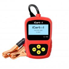 Тестер аккумуляторных батарей (АКБ) 12V iCartool IC-100